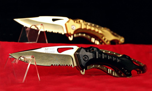 M Tech Tactical Folding Knife in Gold