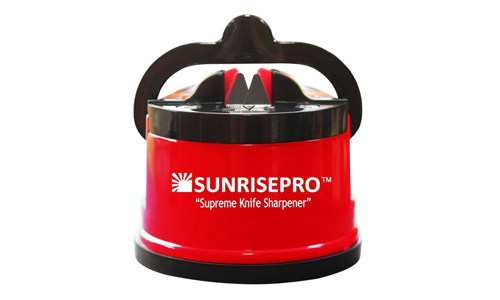 SunrisePro Knife Sharpener in Red